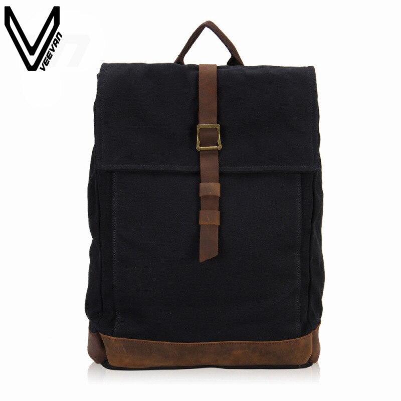 VEEVANV New Fashion Shoulder Canvas Backpack Black Color Leisure School Backpacks For Girls/ Boys Teenagers Backpack Student Bag<br><br>Aliexpress