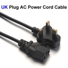 30pcs UK Plug AC Power Cord 3 Prong Extension Adapter Cable 1.2m 4FT With Fuse For PC Computer Monitor