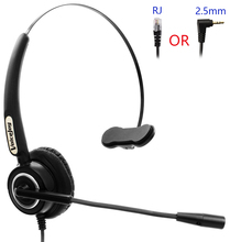 Monaural Noise Canceling office Headset with RJ9 /RJ11 plug telephone headset for call center(China)