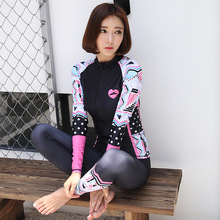 2017 NEW Korean diving women suit wetsuit outdoor sunscreen swimsuit quick dry trunks yoga pants Digital64