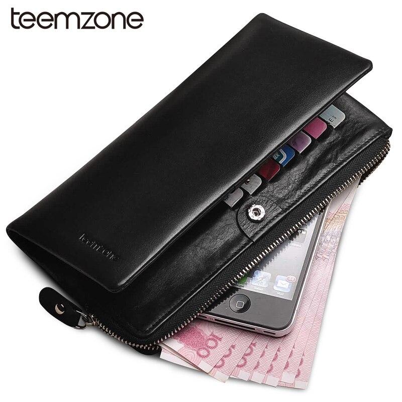teemzoneNew Unisex Couples Ladys Mens Womens Genuine Leather Bifold Wallet Purse Card Cash Holder 4 colors Q312<br>