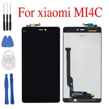 free tools replacement Touch Panel+LCD Display For Xiaomi Mi4C Mi 4C 808 Hexa Core 5.0 Inch display screen for xiaomi mi4c