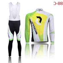 2016 Bike Maillot ciclismo winter thermal fleece cycling jersey long sport mtb ropa ciclismo Bicycle Clothing And Bib Pants(China)
