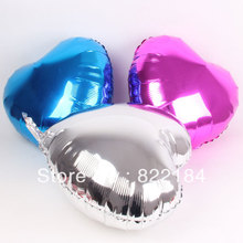 OURUOLA 50pcs 18inch Air Ball Balloons Pure Foil Heart Balloon Wedding Holiday Baby Shower Decoration Holiday Party Ballon(China)