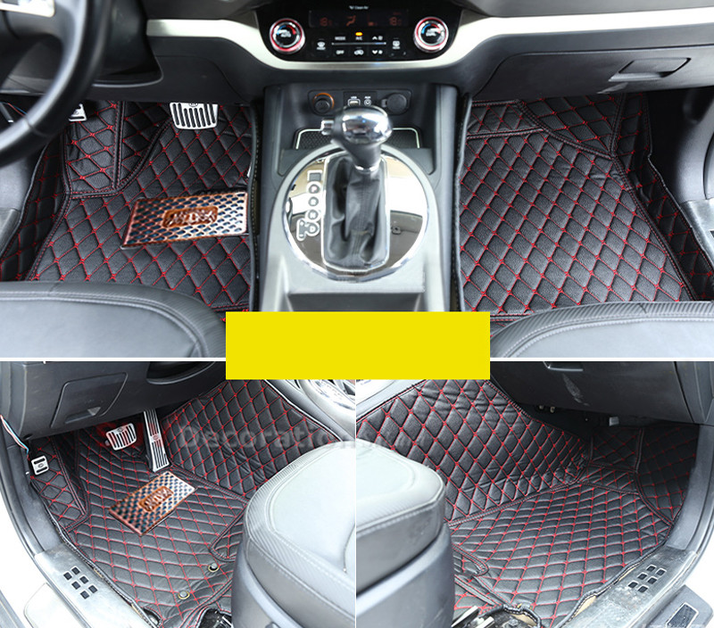 For Kia K7 Cadenza 2011-2015 Interior Front&amp;Rear Car Floor Pad Leather Foot Mats<br><br>Aliexpress