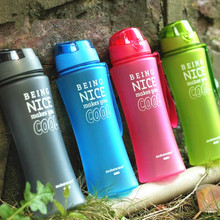 New Hot Sports Bounce Cover Water Bottles 480ml/650ml Healthy Plastic Cycling Outdoor Travel Bottle My Water Bottle Shaker(China)