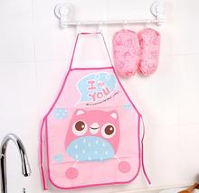 Cartoon cute child kids Apron Kit Kitchen Baby Eating Art Painting  with Oversleeve PE Waterproof Child Aprons Tablier Enfant