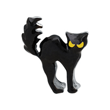 Black cat, Floating charms,Fit floating charm lockets, FC0379(China)