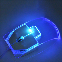 New Optical Mouse Mice Transparent Crystal Arrow for PC Laptop Notebook Windows 95/98/NT/ME/2000/XP/Vista WIN7/WIN8 Best(China)