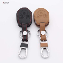 High Quality Leather Key Cover for Subaru 2013 2014 Forester Inland SUBARU XV Legacy 3 Button Straight Key Shell starline a91