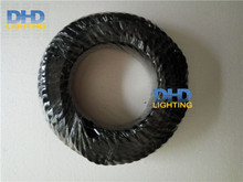 Black color 100M/roll White&black inside copper 2coresX0.82mm UL certificate fabric wire Vintage twisted electrical cable wire