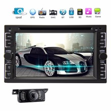"GPS Navigation 2 Din Car DVD Player 6.2"" Car GPS iPod AutoRadio DVD Player Double DIN Stereo USB SD Bluetooth iPod Touch Screen(China)"