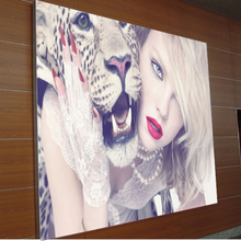 frameless fabric led light box with backlit picture frame for outdoor lighted sign and slim light box