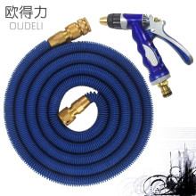 2017 High Quality 25FT-100FT Garden Hose Expandable Magic Flexible Water Hose Hose Plastic Hoses Pipe With Coppe Gun To Watering(China)