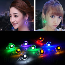Fashion Party Accessories Flashing LED Earrings LED Stud Unisex Earrings for dance party