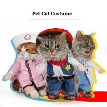 Various Uniform Dog Pet Costume Dog Cat Costume Cat Clothes Sexy Nurse Policeman Cowboy Sailor Uniform Hat Business Attire(China)