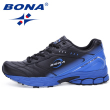 BONA New Style Men Running Shoes Typical Sport Shoes Outdoor Walking Shoes Men Sneakers Comfortable Women Sport Running Shoes(China)