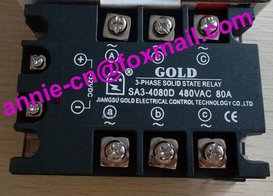 SA34080D (SA3-4080D)  GOLD New and original  SSR  3-phase DC control AC  SOLID STATE RELAY   480VAC  80A<br><br>Aliexpress