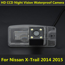 For Nissan X-Trail X Trail 2014 2015 Car CCD 4LEDS Night Vision Backup Rear View Rearview Reversing Camera Waterproof Parking(China)
