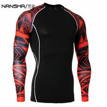 Long Sleeve Skin Rash Guard Complete Graphic Compression Shirts Multi-use Fitness GYMS MMA Crossfit  Tops Shirts
