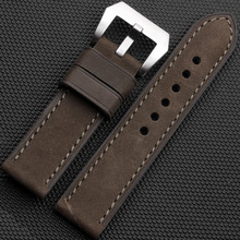 High Quality 20/22/24/26mm Imports Scrub Leather Watch band Strap + Buckle Fit PAM For Polit Watch + Tools
