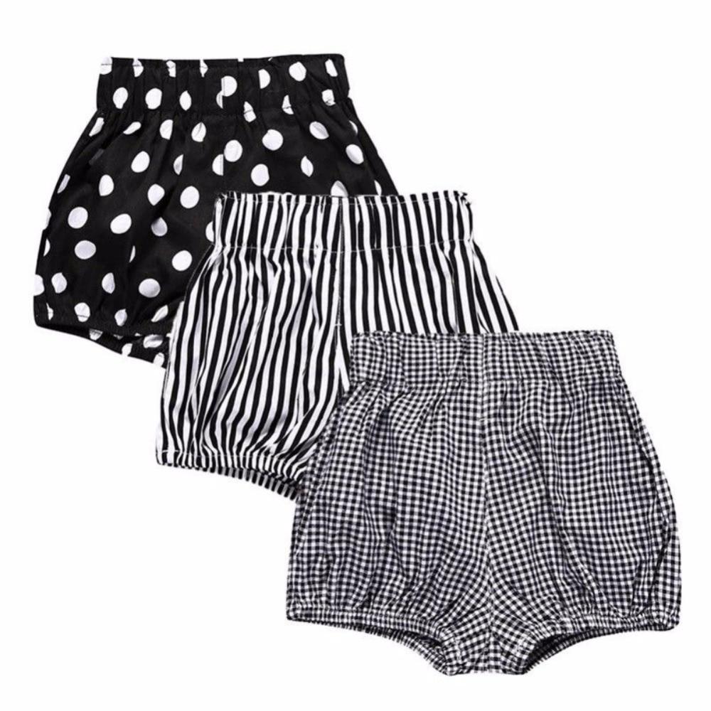 Weixinbuy Newborn Baby Girls Cotton Elastic Waist Bloomer Shorts Floral Flower Training Pants Bottoms