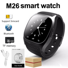 M26 Smartwatch Bluetooth Waterproof Mobile Phone touch Smart Watch Alarm Pedometer For Apple IOS Android Watch DZ09 Q18 A1 Z60(China)