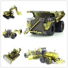 CAT Engineering Car Series Color Version 3D Metal Assembly Model Adult Jigsaw Puzzle Creative toys Classic collection(China)