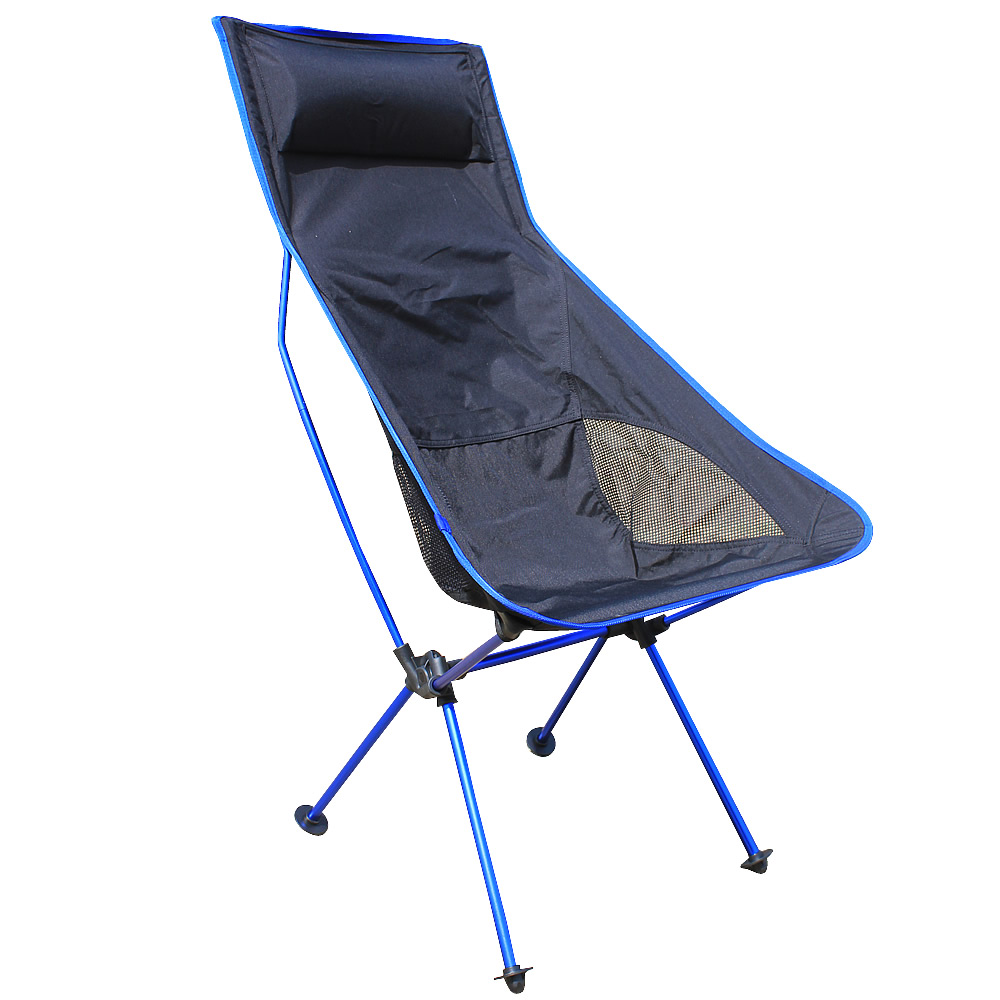 Lightweight Outdoor Aluminum Square Portable Folding Fishing Chair Tool Camping Stool for picnic BBQ beach chair blue Color<br>