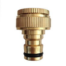 "1PCS Pure Brass Faucets Standard Connector Washing Machine Gun Quick Connect Fitting Pipe Connections 1/2 ""3/4"" 16mm Hose(China)"