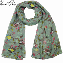 Abstract Bird Scarf Women 2017 Fashion Print Animal Scarves Shawls