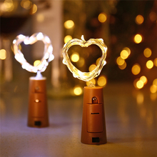 New 20 LED Copper Wire String Light with Bottle Stopper for Glass Craft Bottle Fairy Valentines Wedding Decoration Lamp Party(China)
