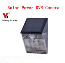 YobangSecurity Waterproof Solar Power Outdoor Security Surveillance CCTV Camera PIR Sensor Video Recorder With Night Vision cam(China)