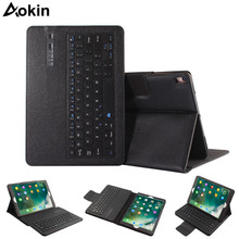 Aokin Detachable Bluetooth Keyboard For Ipad Pro 10.5 Inch Wireless Smart Protective Case Stand Portfolio Case Cover for Apple(China)