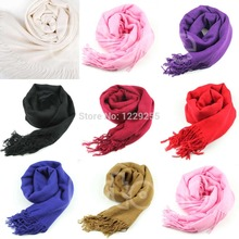 1pc Women Wool Blend Long Scarf Tassels Warm Scarves Winter Warm Soft Wrap Shawl New-448E