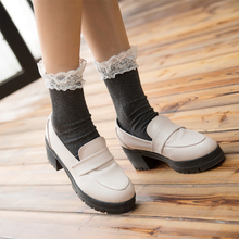 F&M High Quality cotton Lace Summer socks Elegant Warm Short Socks For Woman(China)