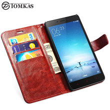 PU Leather Case For Xiaomi Redmi Note 2 / Prime Phone Flip Wallet Stand Style Back Cover Cases For Xiaomi Redmi Note 2 Tomkas