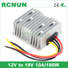 New Arrival, DC to DC 12V 19V 10A Step-up Boost DC/DC Power Converter, 190W Car Laptop Power Supply