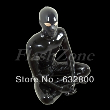Men full cover latex garment rubber clothes zentai wearing