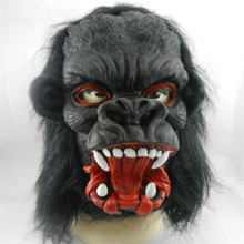 Cosplay Black Gorilla Mask Horror Masquerade Adult Ghost Mask Halloween Props Costumes Fancy Dress Carnival Parties