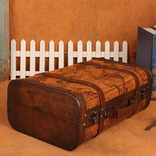 C Boutique explosion models retro suitcase storage box wooden box factory direct shooting props Home Storage