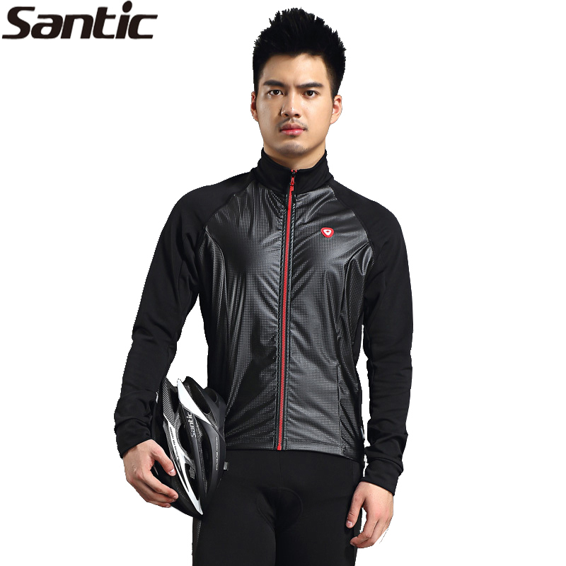 New SANTIC Black Mens Cycling Long Jersey Winter Riding Jacket -Okaley Waterpoof Windproof Thermal Bicycle Jersey<br><br>Aliexpress