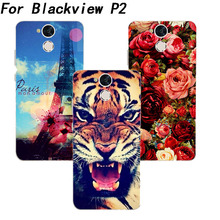 Blackview P2 Case Cover fashion tiger owl Rose Cat eiffel towers Painted Silicone Soft Tpu Case Blackview P2 5.5 Inch Phone Bags