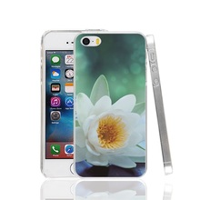 01441 White Lotus Flower Cover cell phone Case for iPhone 4 4S 5 5S SE 5C 6 6S 7 Plus
