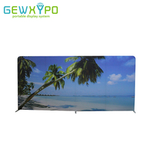 500cm Width Straight Easy Fabric Banner Display Stand With One Side Printing,Portable Trade Show Booth Advertising Graphic Wall(China)