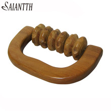 SAIANTTH Vietnam fragrant wood 6 rounds hand Holding wheel massager factory sell wholesale Roll back / leg Promote blood cycle(China)