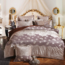 Thick Fleece winter luxury duvet cover sets queen king size 4/6pcs warm Jacquard bedding set Flannel Bed sheet bed linen