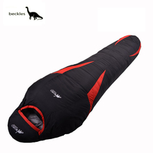 Ultralight Down Sport Hiking Sleeping Bags Outdoor Winter Camping Duck Down Adult Mummy Waterproof Sleeping Bags 3 Colour(China)
