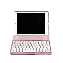 Elegant Multi Colors Backlit Bluetooth Keyboard with High Quality Smart Folio Case For iPad Pro 9.7inch Jun27