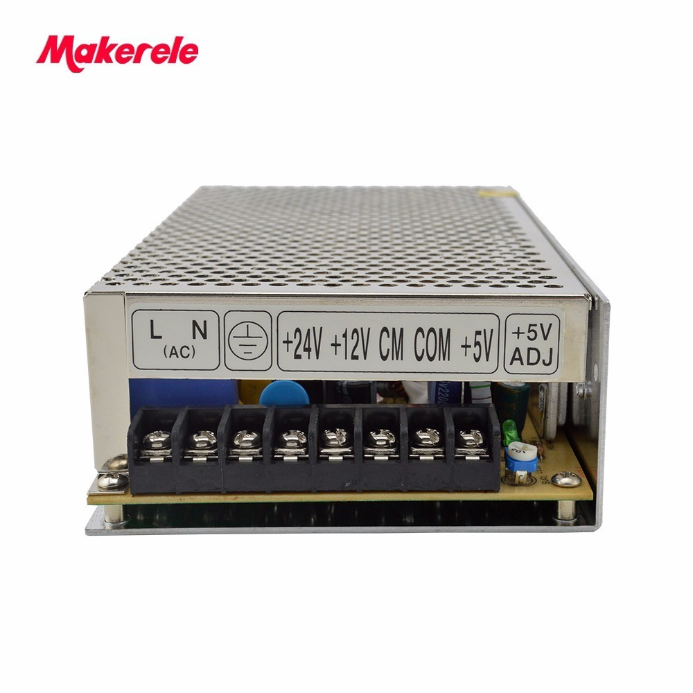 customized triple dc output 5V 12V 24V T-100E 100w three outputs switching power supply 2a 2a 3a with CE<br>